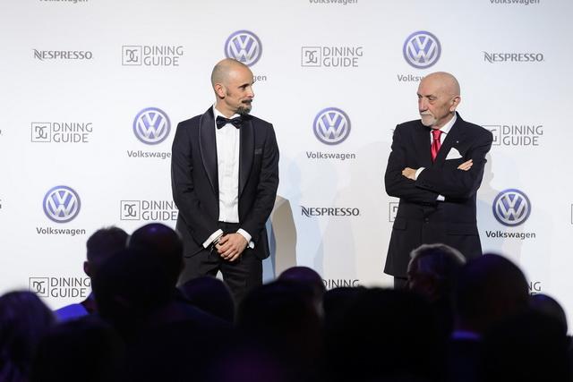 Enrico Crippa és Fausto Arrighi a díjátadó gálaesten.