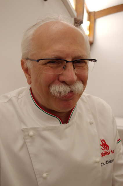 Dr. Sándor Dénes, a BGE KVIK nyugalmazott docense, az Olivier Roellinger nemzetközi szakács verseny hazai atyja.