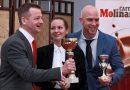 A Sommelier Bajnokság idei győztese Tüű Péter és a dobogósok Angermann László és Evans Viktória. GasztroMagazin 2019.