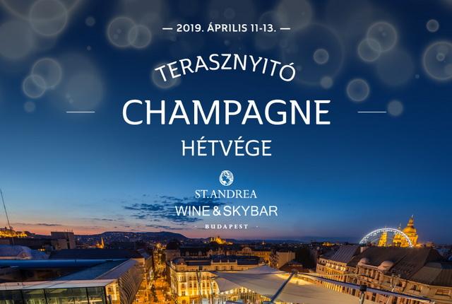 Pezsgős terasznyitóval kezdi a szezont a St. Andrea Wine and Skybar. GasztroMagazin 2019.