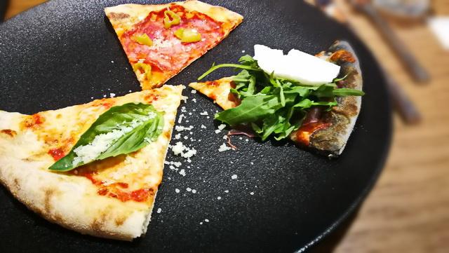 Pizzaválogatás: Margherita, fekete Na'Pasta, kamut Diavola