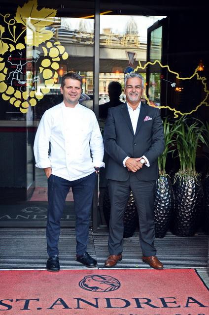Barna Ádám, a St. Andrea Restaurant konyhafőnöke és Lizsicsár Miklós étteremvezető