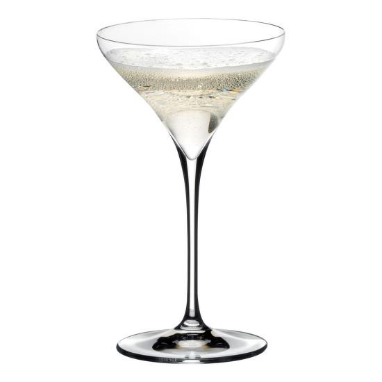 A Riedel poárválaszékában a leginkább a Martini-poháron láthatjuk a flőte jellegzetességeit, a felfelé öblösödő kehely adottságait