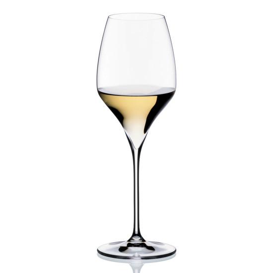 A Riedel Riesling Vitis pohara jól szemléteti a rizlinges pohár jellegzetességeit