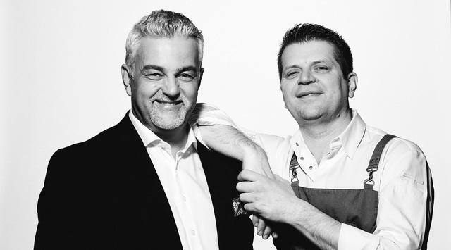 Lizsicsár Miklós étteremvezető és Barna Ádám konyhafőnök, a St. Andrea Restaurant oszlopai. GasztroMagazin 2019.