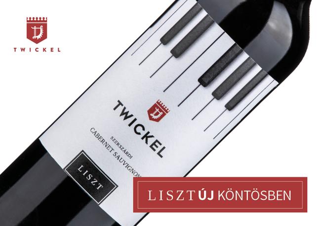 A szekszárdi Twickel Szőlőbirtok Liszt borcsaládja számára tervezett új címkéket Ipacs Géza. GasztroMagazin 2019.