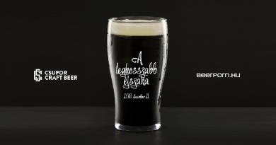 A Ghost Brewing és a budapesti Csupor Craft Beer közös söre a Leghosszabb Éjszaka rendezvénysorozat keretében. GasztroMagazin 2019.