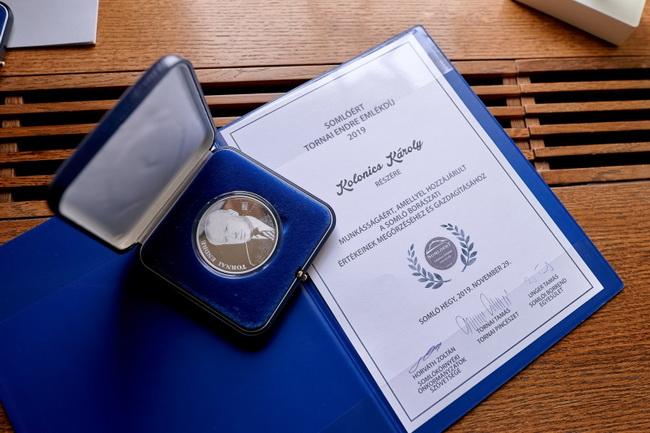 Kolonics Károly érdemelte ki a Somlóért - Tornai Endre Emlékdíjat. GasztroMagazin 2019.