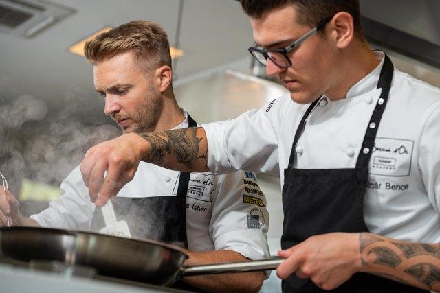 Veres István chef és Molnár Bence commis