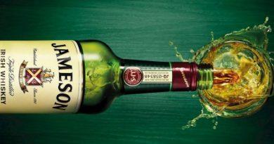 Jameson Whisky. A Világ lLegnépszerűbb Italai 2017. GasztroMagazin