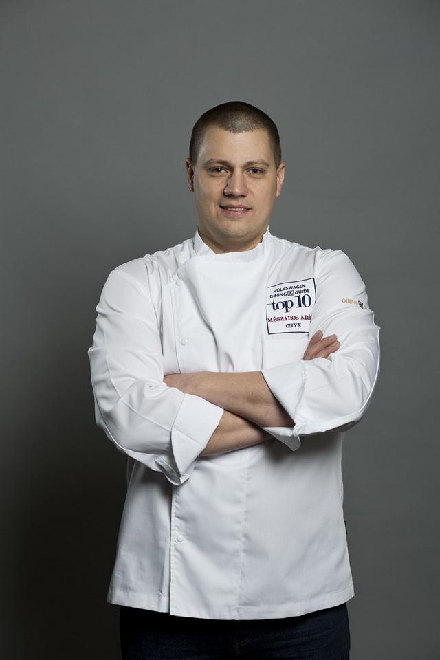 Mészáros Ádám, az Onyx konyhafőnöke. GasztroMagazin 2018.