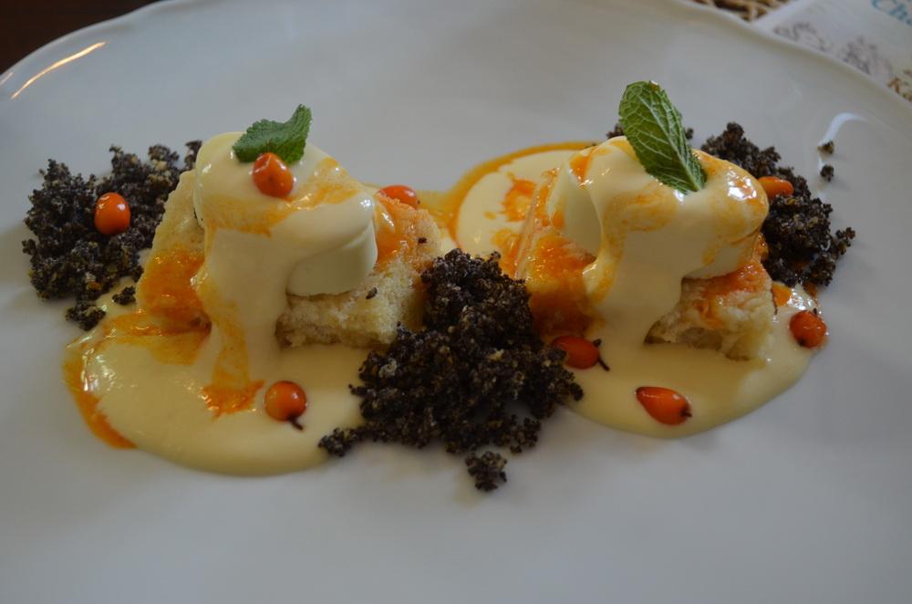 Hotel Chateau Amade. A cukrászda egyik sztár desszertje, az újragondolt mákos guba.
