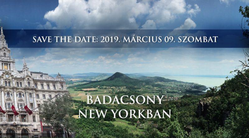 Idén is Badacsony New Yorkban. GasztroMagazin 2019.