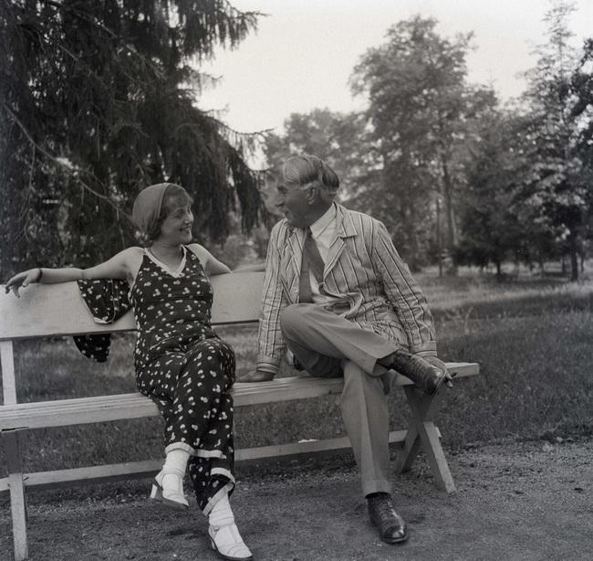 Móra Ferenc és Kalmár Ilona az archív felvételen