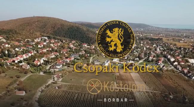 Csopaki Kódex Kóstoló a Kóstolom Borbárban 2019. novemberében. GasztroMagazin 2019.