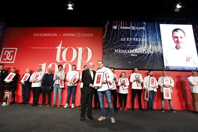 Az Év Séfje a két Michelin-csillagos Onyx Étterem konyhafőnöke, Mészáros Ádám. GasztroMagazin 2020.