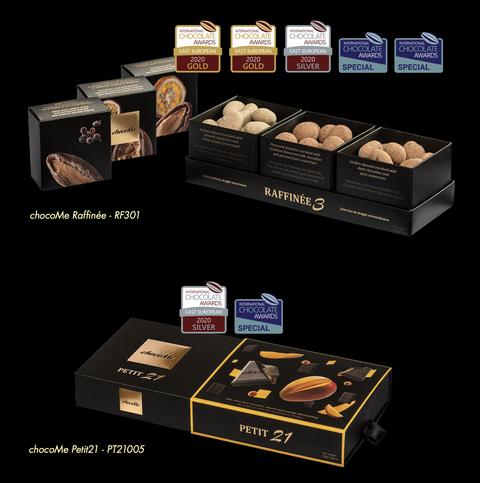 A chocoMe díjnyertes termékei az International Chocolate Award nemzetközi csokoládéversenyen. GasztroMagazin 2020.