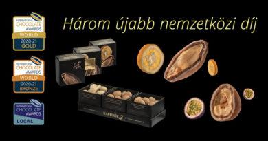 Újabb chocoMe sikerek az International Chocolate Awards világbajnoki döntőjében. GasztroMagazin 2021.
