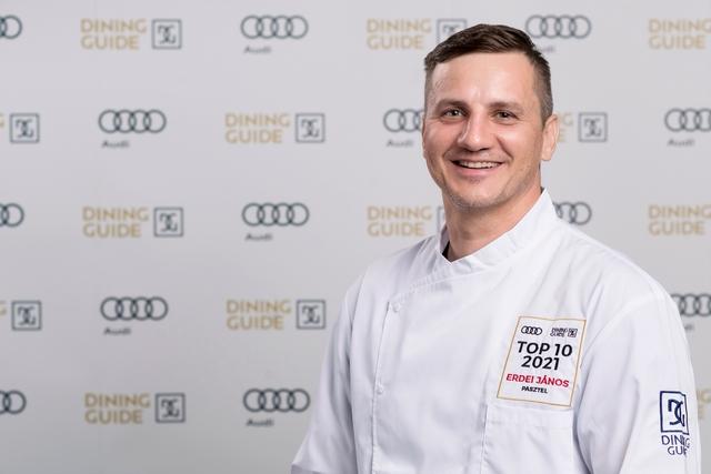 Erdei János, a Pasztell Étterem séfje, az idei Év Étterme Díj második helyezettje. GasztroMagazin 2021.