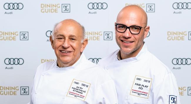 Rosenstein Tibor és Rosensetin Róbert étterme idén két díjat is kiérdemelt a Dining Guide Év Étterme versenyen. GasztroMagazin 2021.