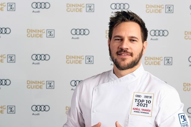 Széll Tamás, a Stand Étterem séfje, az idei Év Étterme Díj nyertese. GasztroMagazin 2021.
