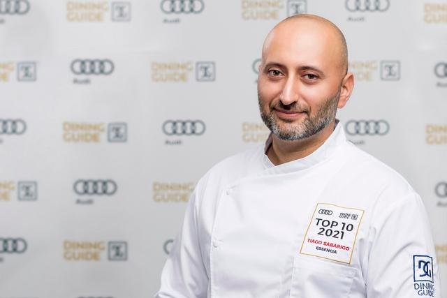 Tiago Sabarigo, az Éssencia Étterem séfje. GasztroMagazin 2021.