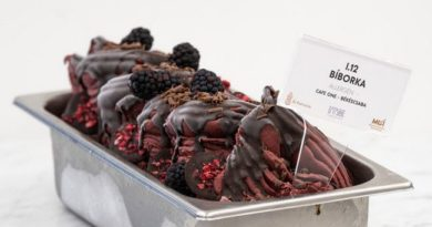 Bíborka fagylalt, a békéscsabai Café One Cukrászda terméke, Az Év Fagylaltja 2021. díj nyertese. GasztroMagazin 2021.
