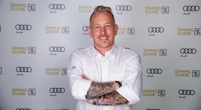 Sárközi Ákos Chef. Audi Dining Guide díjátadó gála 2021. GasztroMagazin 2021.
